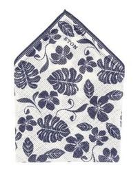 Pañuelo de bolsillo con print de flores blanco de Eton