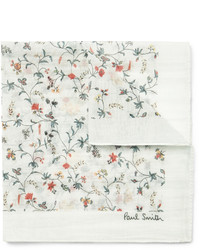 Pañuelo de bolsillo con print de flores blanco de Paul Smith