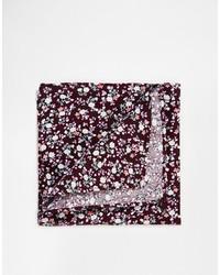 Pañuelo de bolsillo con print de flores burdeos de Asos