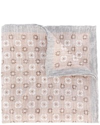 Pañuelo de bolsillo con print de flores marrón claro de Eleventy