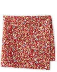 Pañuelo de bolsillo con print de flores rojo