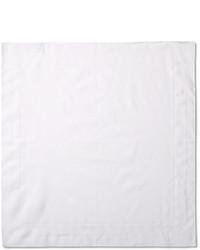 Pañuelo de bolsillo de algodón blanco de Alexander McQueen