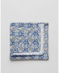 Pañuelo de bolsillo de algodón con print de flores celeste de Jack and Jones