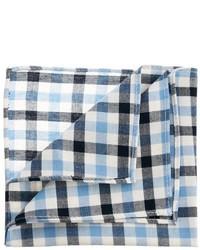 Pañuelo de bolsillo de algodón de cuadro vichy en blanco y azul de Asos