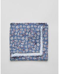 Pañuelo de bolsillo de algodón de paisley azul de Jack and Jones