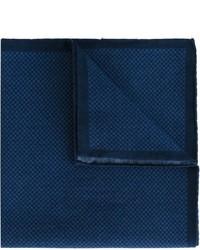 Pañuelo de bolsillo de algodón de pata de gallo azul marino de Eleventy