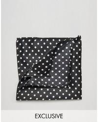 Pañuelo de bolsillo de algodón negro de Reclaimed Vintage