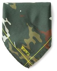 Pañuelo de bolsillo de camuflaje verde oliva de fe-fe