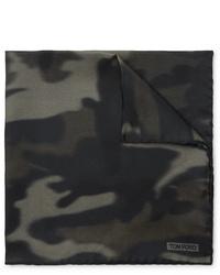 Pañuelo de bolsillo de camuflaje verde oliva de Tom Ford