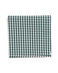 Pañuelo de bolsillo de cuadro vichy blanco