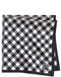 Pañuelo de Bolsillo de Cuadro Vichy Blanco y Negro