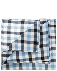 Pañuelo de bolsillo de cuadro vichy en blanco y azul de Asos