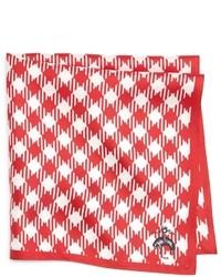 Pañuelo de bolsillo de cuadro vichy rojo