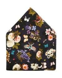 Pañuelo de Bolsillo de Flores Azul Marino de Eton