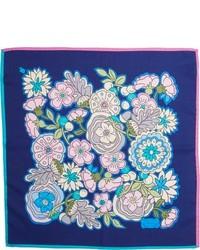 Pañuelo de Bolsillo de Flores Azul