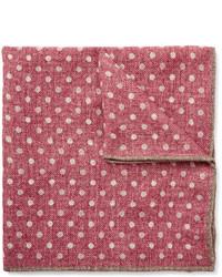 Pañuelo de bolsillo de lana a lunares rosa de Brunello Cucinelli