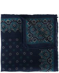 Pañuelo de bolsillo de lana azul marino de Canali