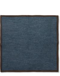 Pañuelo de bolsillo de lana azul marino de Brioni