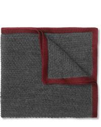 Pañuelo de bolsillo de lana gris de Brioni