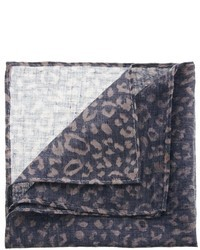 Pañuelo de bolsillo de leopardo marrón
