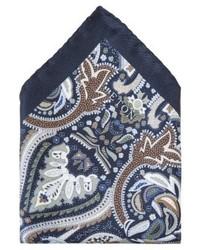 Pañuelo de Bolsillo de Paisley Azul Marino de Eton
