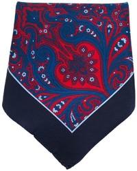 Pañuelo de Bolsillo de Paisley Azul Marino de Kiton