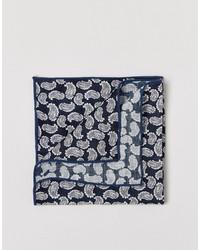 Pañuelo de Bolsillo de Paisley Azul Marino de Selected