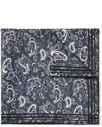 Pañuelo de bolsillo de paisley en gris oscuro de Turnbull & Asser