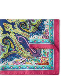 Pañuelo de bolsillo de paisley en multicolor de Etro