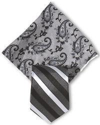 Pañuelo de bolsillo de paisley gris
