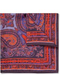 Pañuelo de bolsillo de paisley morado oscuro de Etro