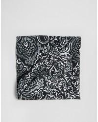 Pañuelo de bolsillo de paisley negro de Asos