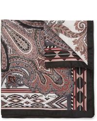 Pañuelo de bolsillo de paisley negro de Etro