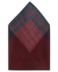 Pañuelo de bolsillo de rayas verticales burdeos de Club Monaco