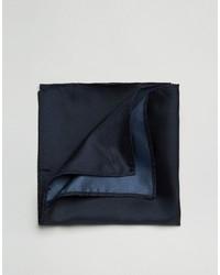 Pañuelo de bolsillo de seda azul marino de Asos