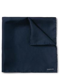 Pañuelo de bolsillo de seda azul marino de Lanvin