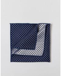 Pañuelo de bolsillo de seda azul marino de Selected