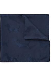 Pañuelo de bolsillo de seda azul marino de Thom Browne