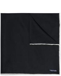 Pañuelo de bolsillo de seda azul marino de Tom Ford