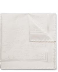 Pañuelo de bolsillo de seda blanco de Berluti