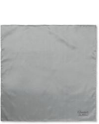 Pañuelo de bolsillo de seda blanco de Charvet
