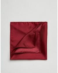 Pañuelo de bolsillo de seda burdeos de Asos
