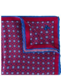 Pañuelo de bolsillo de seda con print de flores rojo de Canali