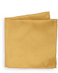 Pañuelo de bolsillo de seda dorado