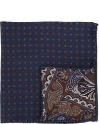 Pañuelo de bolsillo de seda en multicolor