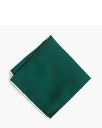 Pañuelo de bolsillo de seda en verde azulado