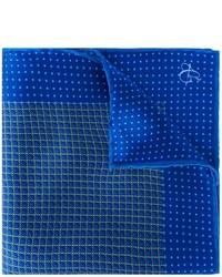 Pañuelo de bolsillo de seda estampado azul de Canali