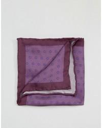 Pañuelo de bolsillo de seda estampado en violeta de Original Penguin