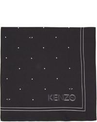 Pañuelo de bolsillo de seda estampado negro de Kenzo