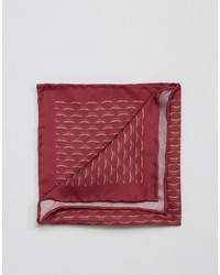 Pañuelo de bolsillo de seda estampado rojo de Original Penguin